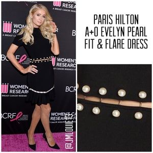 Alice + Olivia Evelyn Pearl Fit & Flare Dress